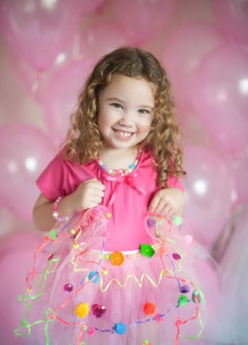 Tutù rosa da customizzare per bambina