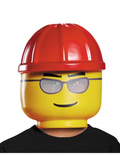 Maschera da operaio di cantiere Lego™ per bambino