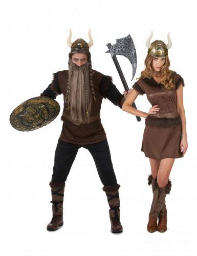Costume di coppia vichinghi adulti