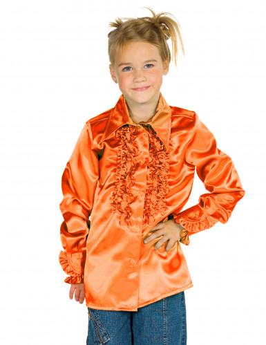 Camicia arancione plissettata per bambino