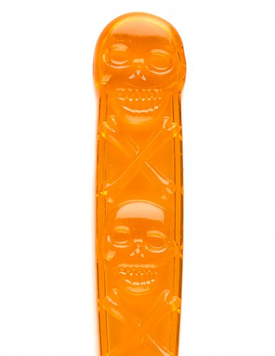 6 Cucchiai arancioni con teschio halloween-1