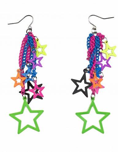 Orecchini con stelle multicolore per adulto