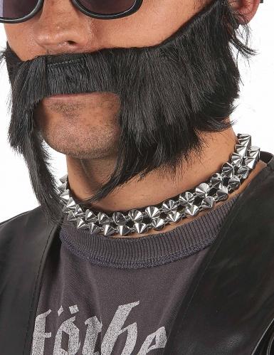 Collana Punk argentata per adulto