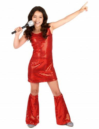 Costume disco rosso per bambina