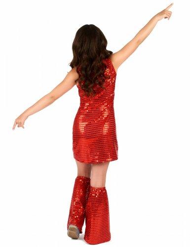 Costume disco rosso per bambina-2