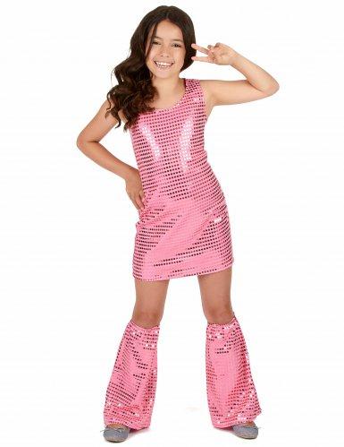 Costume disco rosa per bambina