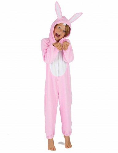 Costume da coniglio rosa per bambino-5