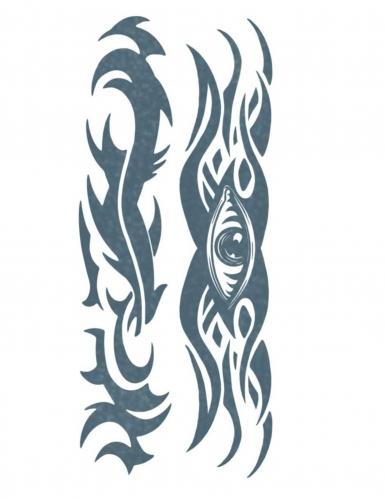 Tatuaggio temporaneo tribale per adulto