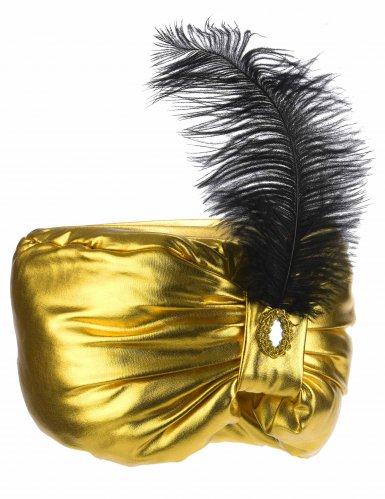 Copricapo da sultano con piuma per adulto