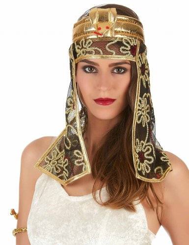 Copricapo egiziana dorata e nera-1