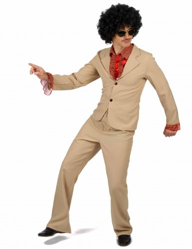 Costume disco beige per uomo-1
