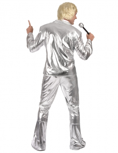 Costume disco argento per uomo-2