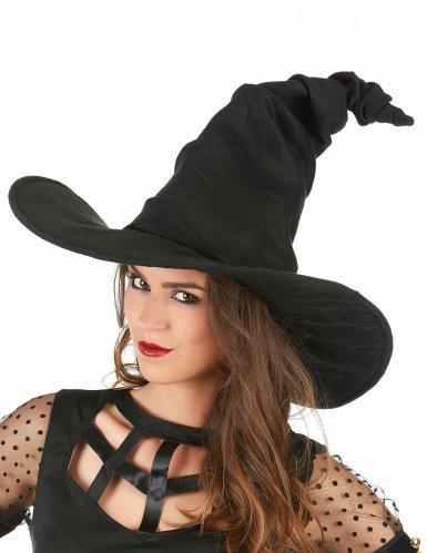 Cappello nero da strega per adulti-1