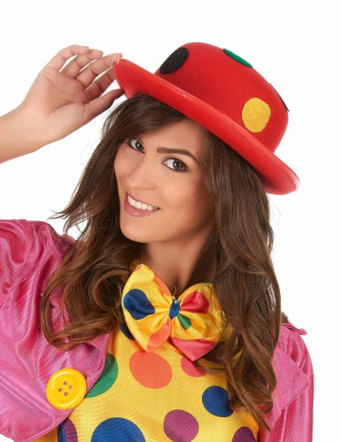 Cappello rosso clown per adulto-1