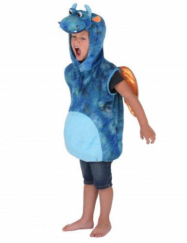 Costume da drago blu e arancione per bambino-1