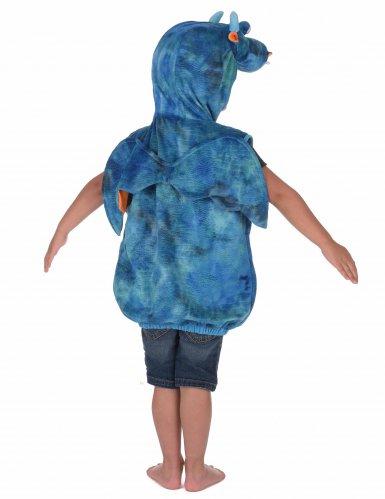 Costume da drago blu e arancione per bambino-2