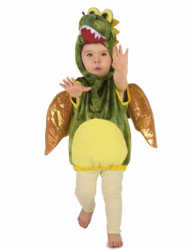 Costume da dinosauro verde per bambino-4