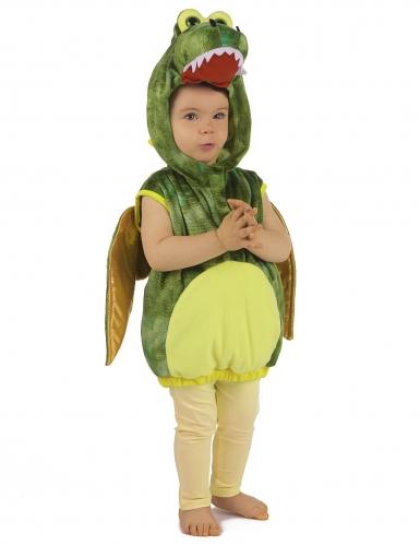 Costume da dinosauro verde per bambino-3