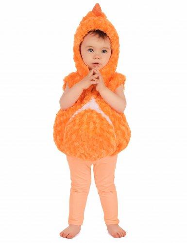 Costume senza maniche da pesce arancione per bambino-1