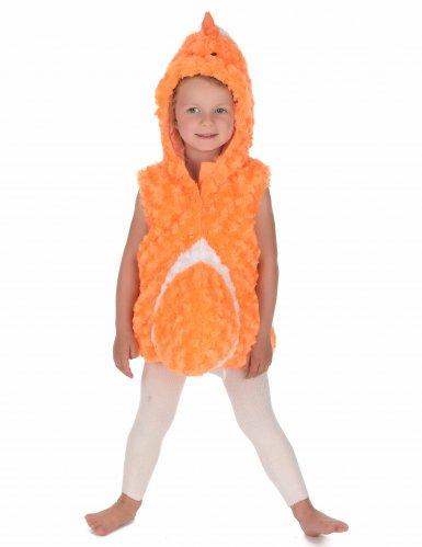 Costume senza maniche da pesce arancione per bambino-2