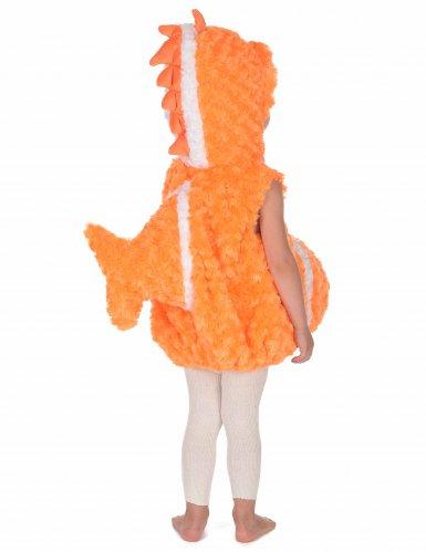 Costume senza maniche da pesce arancione per bambino-3