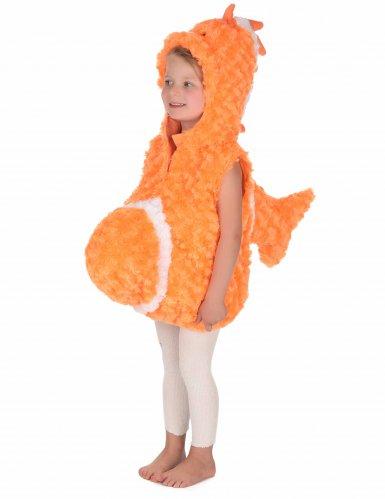 Costume senza maniche da pesce arancione per bambino-4
