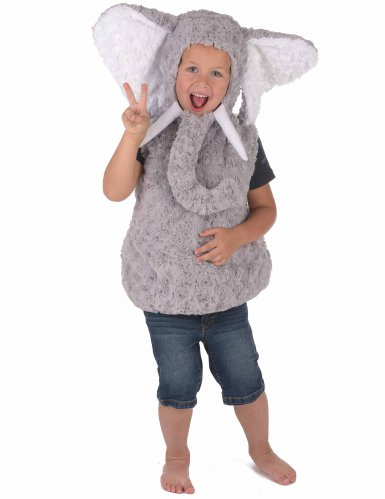 Costume da elefante grigio per bambino-3