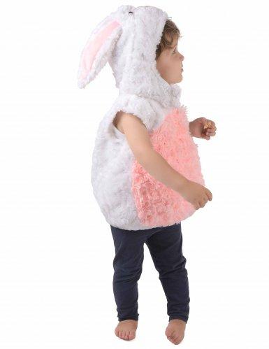 Costume da coniglio bianco e rosa per bambino-1