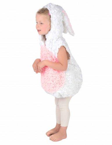 Costume da coniglio bianco e rosa per bambino-2
