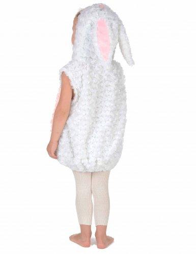 Costume da coniglio bianco e rosa per bambino-3