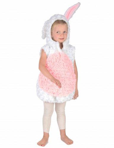 Costume da coniglio bianco e rosa per bambino-4