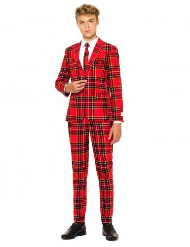 Costume Mr Tartan Scozzese rosso per Adolescente Opposuits™
