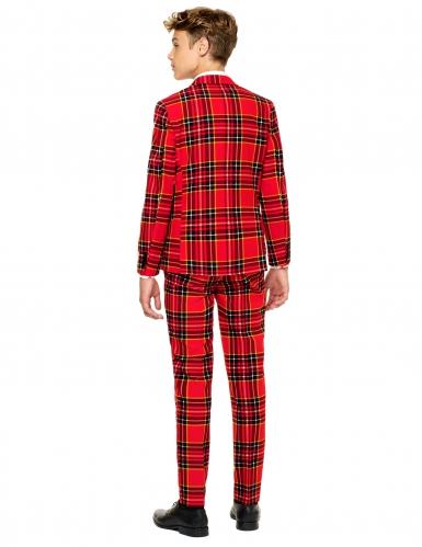 Costume Mr Tartan Scozzese rosso per Adolescente Opposuits™-1