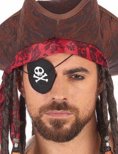 Benda copri occhio da pirata in feltro Adulto-1