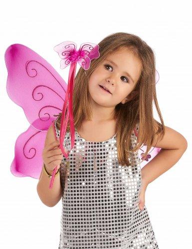 Ali da farfalla e bacchetta magica rosa per bambina-1
