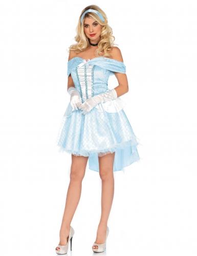 Costume azzurroda principessa di vetro per donna