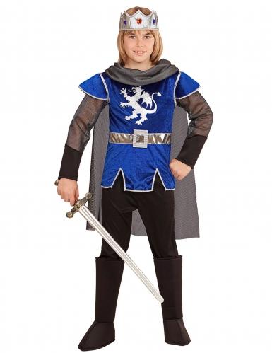 Costume da cavaliere re blu per bambino
