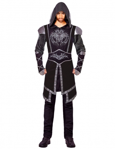 Costume da assassino nero per adulto