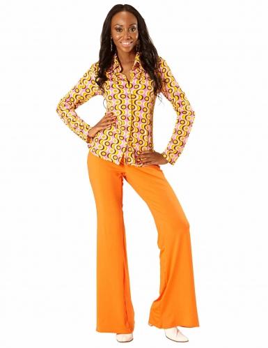 Camicia disco anni 70 per donna