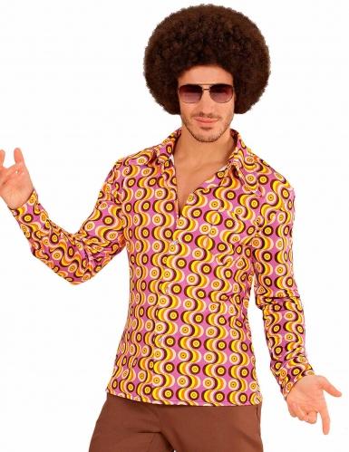 Uomo Anni 70.Camicia Disco Anni 70 Groovy Per Uomo