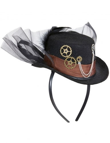 Mini Cappello con velo per adulto Steampunk