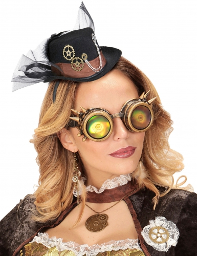 Mini Cappello con velo per adulto Steampunk-1