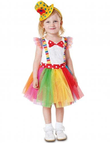 Costume da clown in tutù per bambina