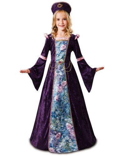 Costume da dama medievale per bambina