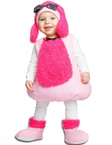 Costume da barboncino rosa per bambina