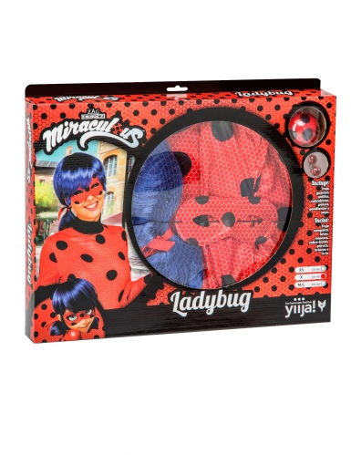 Cofanetto regalo Costume Lady Bug Miraculous™ per adulto-3