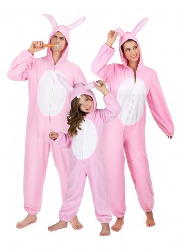 Costume famiglia coniglio rosa