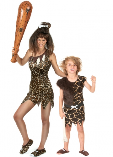 Costume coppia preistorica mamma e figlio