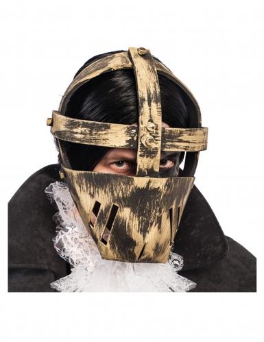 Maschera prigioniero dorato adulto