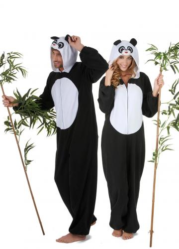 Costume coppia panda per adulto